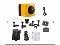 Cube 360 Degree Wide Angle Action Camera - only used for test and review