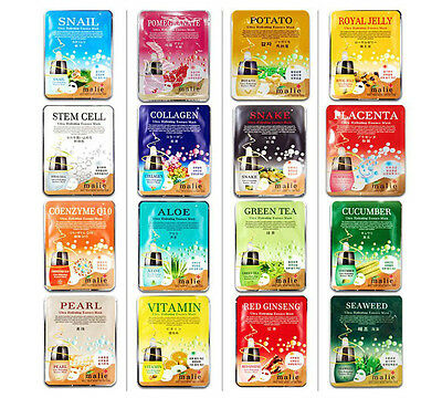 Mask Sheet Essence Malie Mask Pack 32pcs Daily Skin Care Functional Essence