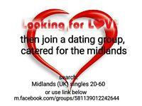 Midlands UK Singles 20-60