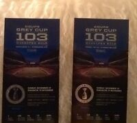 Two Excellent West Side Grey Cup Tics, Parking Pass, DISCOUNTED