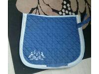 Blue horse Numnah