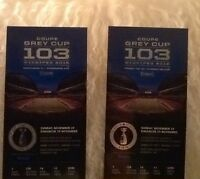 Two West Side Grey Cup Tics, Parking Pass, Price Discounted!