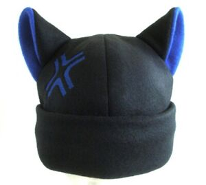 9713b3a7ef1ec ANGRY kitty CAT ear HAT beanie BLACK   BLUE anime cosplay gift Easter basket