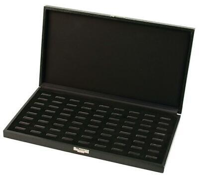72 Wide Slot Ring Case - Black Pawn Store Counter Jewelry Display Holder