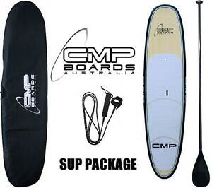 Stand up Paddle Board SUP Package BAMBOO Carbon Paddle Bag  Leash Erina Gosford Area Preview