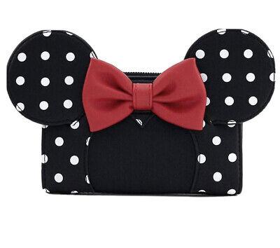 Loungefly x Disney Minnie Mouse Polka Dot Clutch Purse Wallet Brand New