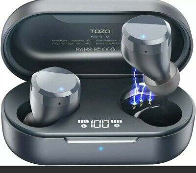 TOZO T12 Wireless Earbuds Bluetooth Headphones with Touch Control Waterproof