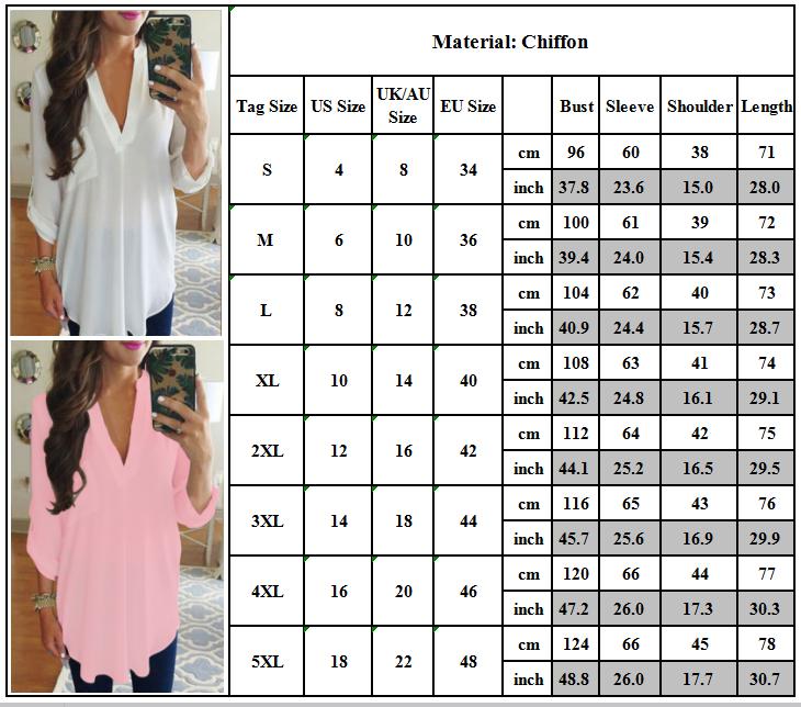Damen V-Ausschnitt Bluse Shirt Pullover Longshirt Tunika Oberteil Hemd Übergröße