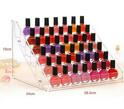 48-Bottle Clear Acrylic Nail Polish Display Stand