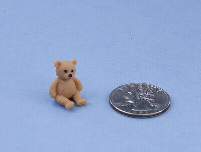 ADORABLE! Dollhouse Miniature Small Rubber Teddy Bear Figurine #MUL6033 - Adorable Teddy Bear