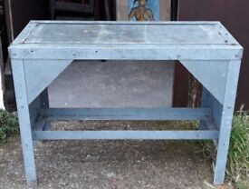 Galvanised Work Bench Or Table For Workshop Or Greenhouse