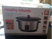 Morphy Richards Accents 48705 Sear And Stew Slow Cooker 6.5L Brushed Stainless Steel - NEW (N4)