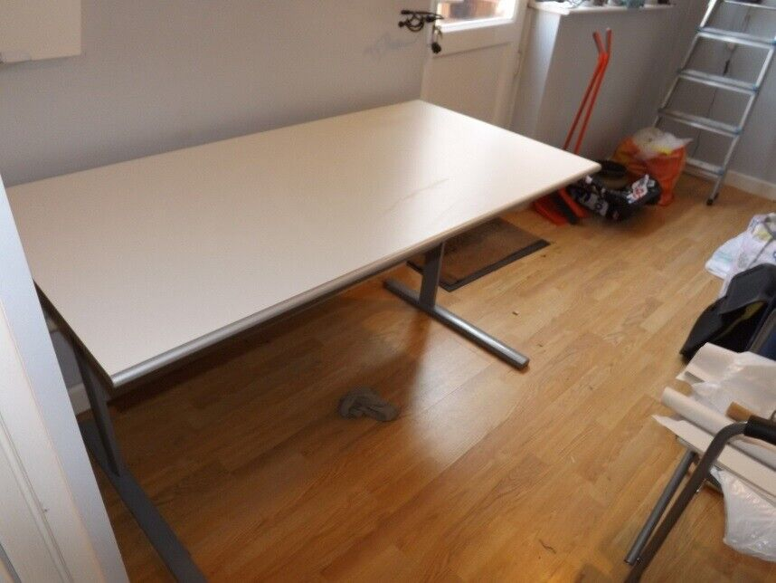 Ikea Large White Topped Desk In
