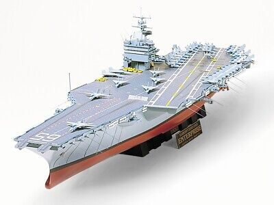 Tamiya USS Enterprise 1:350 scale aircraft carrier ship model kit 78007, used for sale  Meriden