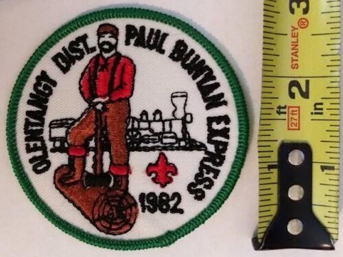 BSA Boy Scout Olentangy District 1982 Paul Bunyan Express Patch