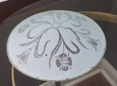 Antique Mid Century Glass Round Ceiling Light Shade Tulips 3 Hole Dome Top 12.5