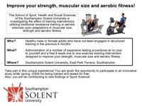 Free Personal Training and Physical Assessment at Southampton Solent University