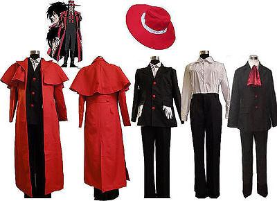 Hellsing Alucard Cosplay Costume Set Vampire Hunter Uniform Outfit Halloween](Halloween Costumes Vampire Hunter)