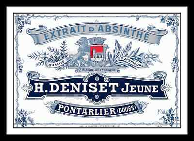 DENISET ABSINTHE DISTILLERY LABEL PRINT