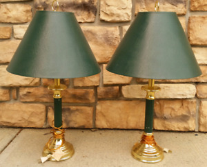 Lamps green and gold