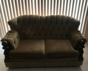 Made In Italy Fabric Sofa and Loveseat