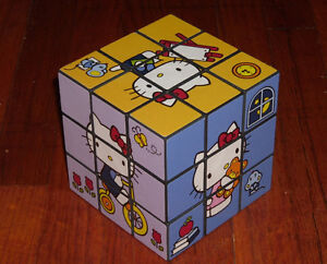 HELLO KITTY LARGE RUBIK'S CUBE RUBICKS RUBIX - UNSOLVED