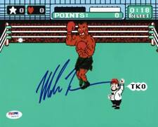Mike Tyson Boxing Signed Authentic 8X10 Punch Out Photo Autographed PSA/DNA ITP