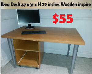Ikea Malm Desk table  55 x 25 x H 29 (inches) Wooden inspire