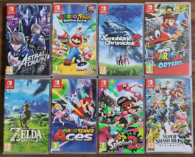 8 Nintendo switch games(can sell separate)