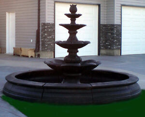 4 Tier Display Fountain With 8ft Surround for Sale