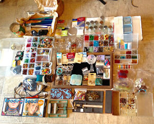 My entire bead collection with tools and books