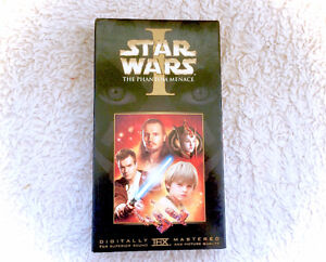 Vintage Star Wars The Phantom Menace VHS Tape Movie Video 1999