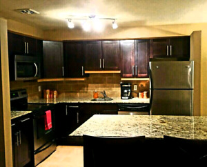 2 bedroom open concept fully furnished Suite on Corydon