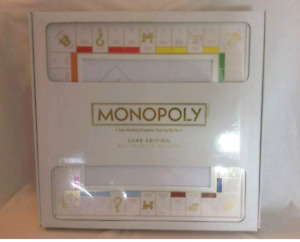 """RARE """"monopoly luxe edition"""" white and gold"""