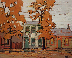 """Limited Edition """"Early Houses"""" by Lawren Harris"""