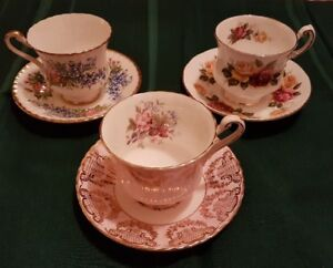Vintage Collectable Tea Cups & Saucers (Paragon) 3 for $100.
