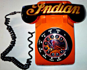 VINTAGE CUSTOM 1 OF KIND INDIAN MOTORCYLE ROTARY PHONE