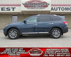 2016 Nissan Pathfinder SL AWD 7 PASS, 2 SUNROOF, HTD LEATHER, NA