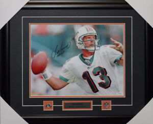 Dan Marino signed autograph Miami Dolphins frame