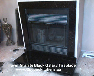 Granite Fireplace: Black Galaxy In Dollard-Des-Ormeaux (DDO)