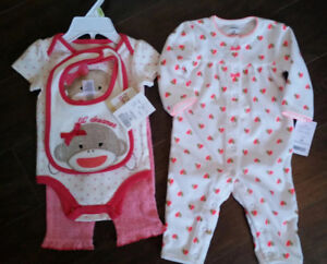 Two Brand New 3-Month Size Outfits - $20 for both