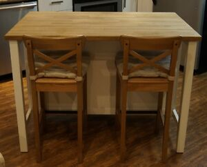 Ikea Island Kitchen Table with 2 chairs