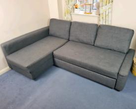IKEA FRIHETEN Corner Sofa Bed with Storage in Grey RRP £500 *DELIVERY*