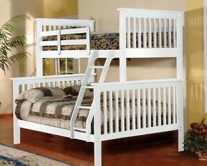 White - Twin over Double Bunk Bed !!