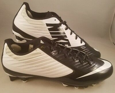 9a9cf52ab Nike Vapor Speed Low TD Football Cleats Men s Size 15 Black White 643152-110  NEW
