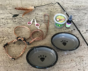 Cat Accessories - Harness, bowls, nail trimmer etc...