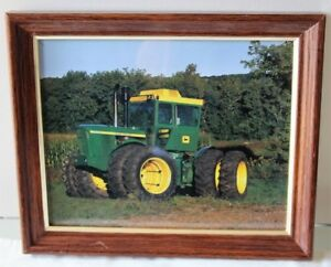 2 FRAMED JOHN DEERE ANTIQUE MACHINERY PICTURES