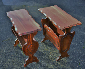 Beautiful Pair of End Table Stands
