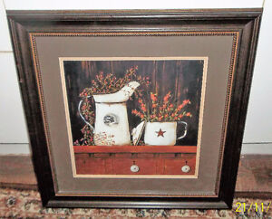 Lovely matted picture in wood frame 19 x 19 inches Kitchener / Waterloo Kitchener Area image 2