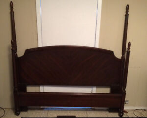 Queen size  four post headboard and foot board